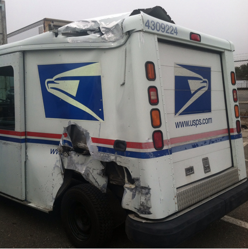 Picture of Post Office Truck Before