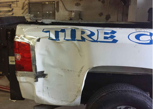 Picture of Tire Corral Company Truck Before