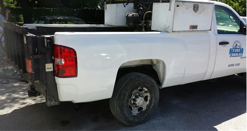 Picture of Tire Corral Company Truck X After